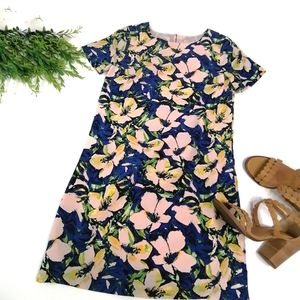 J. Crew Factory Printed Floral Shift Dress…